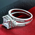 Fashion Design Romantic Couples Wedding Ring Engagement Ring White gold Plated Wedding Ring New Year Gifts GG162