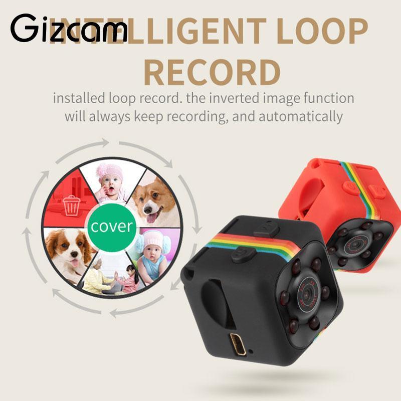 Gizcam Portable SQ11 HD 1080P Home Cámara Sensor de visión nocturna Cámara CMOS Cámaras Micro Camera DVR DV Videocámara de filmación