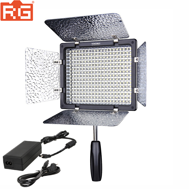 YONGNUO YN300 III YN 300III 3200K 5500K LED Camera Video Light For Canon Nikon Pentax Olympus Panasonic Camera + AC adapter-in Photographic Lighting from Consumer Electronics    1