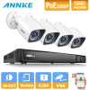 ANNKE 8CH 6MP NVR 1080P 2MP Outdoor Home Security IP Camera POE System WDR Video