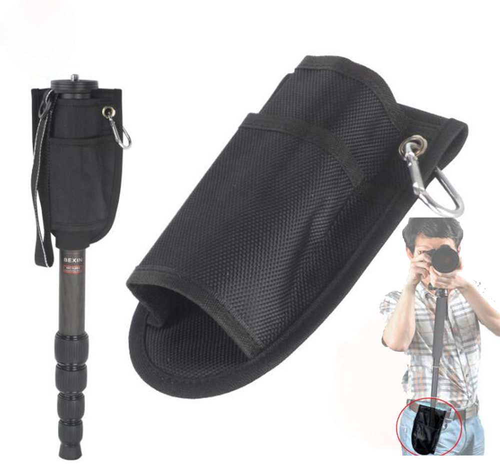 New Pro Fixed Portable Waist Bag Pouch Pocket Case Pack For Supporting DSLR Camera Monopod Tripod Stand pocket tripod pro