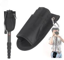 Nouveau Pro fixe Portable taille sac pochette poche étui pour soutenir DSLR caméra monopode trépied Stand