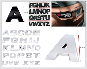 4.5CM large size car metal alphanumeric English decorative stickers for Fiat Croma Linea Ulysse Oltre 600 1200 520 20-30 16-20 image