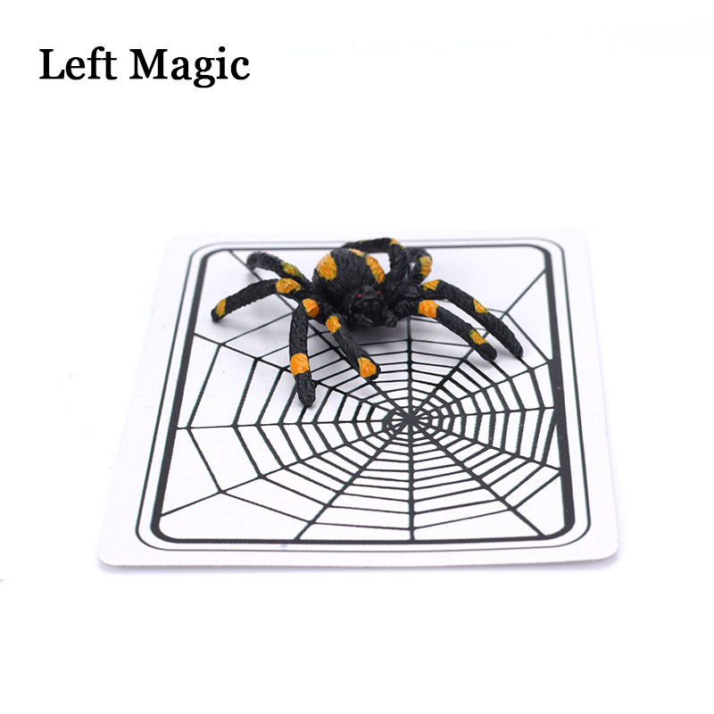 Spider And Net Magic Trick The Web Trick Cards Toys Magician Gimmick  Illusion Closed-Up Magic Props Toy