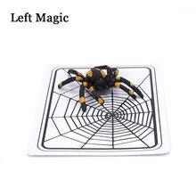 Aranha e net truque mágico a web truque cartões brinquedos mágico truque ilusão fechado-up adereços mágicos brinquedo