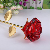 Tình Yêu lãng mạn Pha Lê Rose Thủ Công Mỹ Nghệ 3D Kính Tao Nhã Đồ Trang Trí Hoa Trang Trí Đám Cưới Ngày Valentine Gift Trang Trí Nội Thất