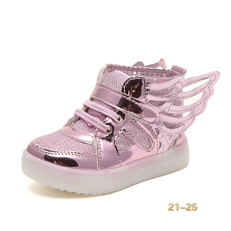 Girls Led Wings Sneakers Kids Anti-Slip Sports Shoes Boys Shoes Children Lighting Shoes Boots Luminous Flasher Glowing Sneakers