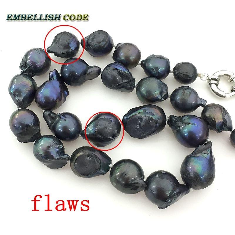 540e8fe6a192 Moda color negro gargantilla collar gancho colgante pendientes Conjunto grande  barroco nucleado Bola de llama forma de perla natural de agua dulce en ...