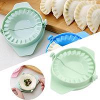 1PC 플라스틱 반죽 보도 만두 파이 라비 올리 금형 만두 금형 요리 과자 중국 음식 Jiaozi Maker Tool