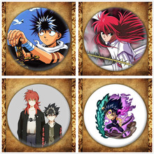 Japanese Anime YuYu Hakusho Display Badge Fashion Cartoon Figure Urameshi Yuusuke Brooches Pin Jewelry Accessories japanese anime bleach display badge fashion cartoon figure kurosaki ichigo brooches pin jewelry accessories gift