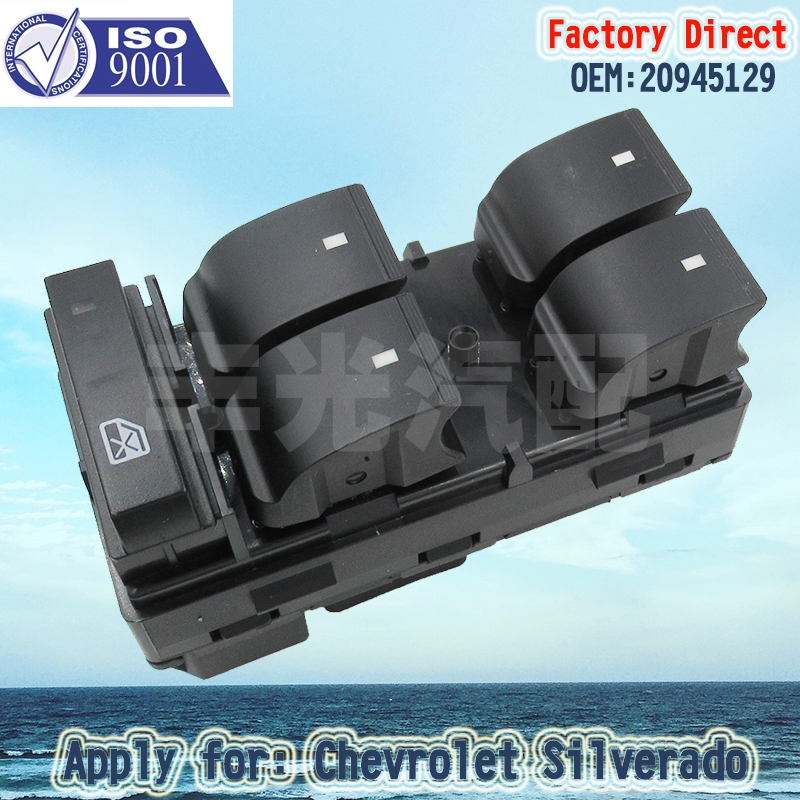 Factory Direct Auto Master Power Left Driver Window Switch 4-door Apply For Chevrolet Silverado GMC Sierra