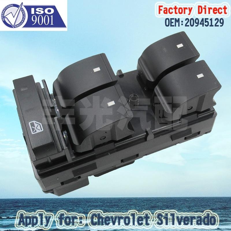Factory Direct Auto Master Power Left Driver Window Switch 4-door apply For Chevrolet Silverado GMC Sierra