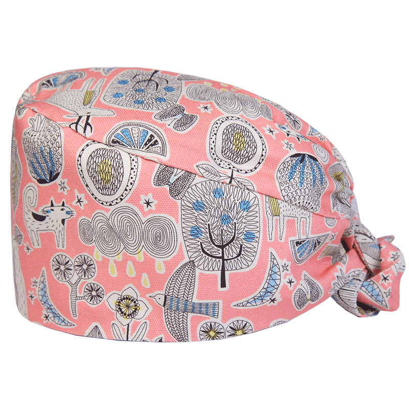 Tree Birds Print Medical Cap Clinic Surgical Cap Hospital Doctor Dentist Laboratory Pharmacy Beauty Salon Workwear Hat Men Women Discounts Price Work Wear & Uniforms