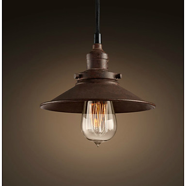 Vintage Style Lighting Fixtures Loft Retro Antique Rust Droplight Edison Pendant Light Fixture