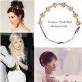 Estilo Europeu Retro Metal Chian Ouro Headband Para Mulheres Senhora Presente da Festa de Casamento Floral Folhas Cabeça Envoltório de Jóias