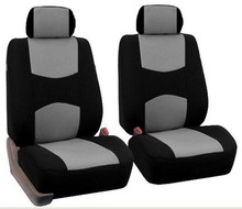 Simple Style High Back Bucket Car Seat Cover Universal Fit with Non- Detachable Headrests and Headrest 6 Colours