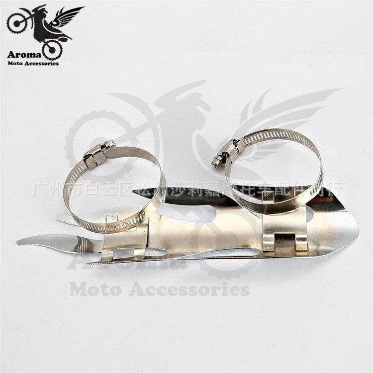 top quality Chrome Chopper Cruiser Motorcycle Exhaust Pipe Shield Flame Exhaust Muffler Silencer Heat Shield Cover Heel Guard -in Exhaust u0026 Exhaust Systems ... & top quality Chrome Chopper Cruiser Motorcycle Exhaust Pipe Shield ...