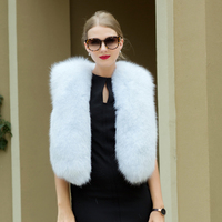 JKP 2018 winter new women's real fox fur vest fashion solid color waist coat fox fur coat weatherization HHM 1013