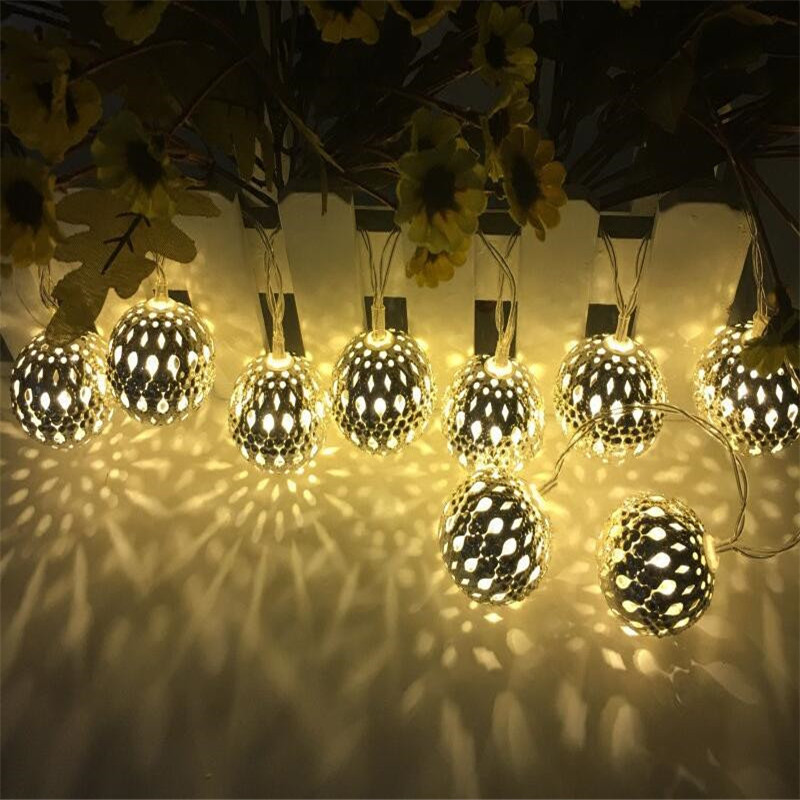 Outdoor Lighting 2pcs New Year Christmas Garland Waterproof Led String Lamp Fairy Lights 3.5m Length For Birthday Wedding Home Hanging Decoration Lighting Strings