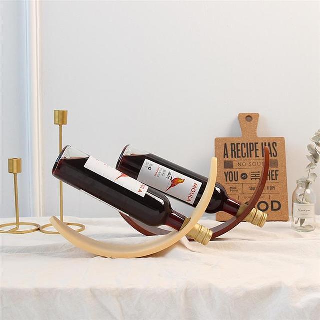 Artistic Wood Wine Rack Handicrafts Wooden Frame Wine Bottle Rack