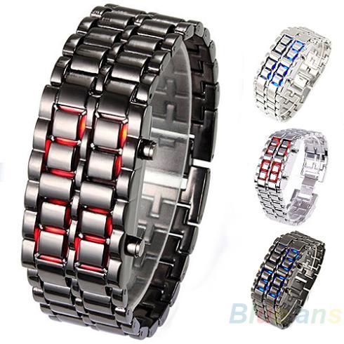 Men's Watches Enthusiastic Fashion Men Womens Watch Lava Iron Samurai Metal Led Faceless Bracelet Wristwatch Stainless Steel Novelty Item 0kpm To Win A High Admiration