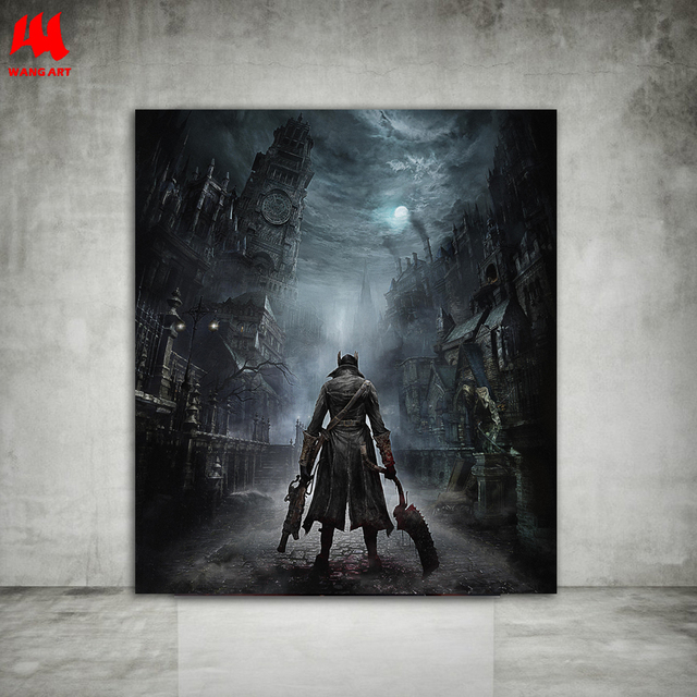 Bloodborne Art Poster Print Game Hunter Canvas Painting Picture for Living Room Wall Decoration Modern Abstract Canvas Paintings