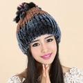 Женщины Cap Шляпы Для Женщин Натуральный Мех Трикотажные Зимы Gorros шапочка Женский России Hat Femme Toucas де Inverno feminina женщин шляпы