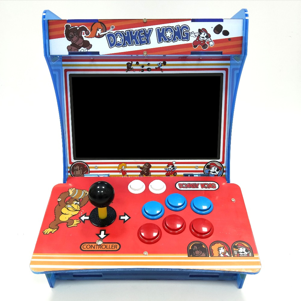 """Retro Mini Arcade Machine with 4000 Classic Video Games 1 Player Raspberry Pi Plug and Play Game Cabinet Console with 10""""Screen"""