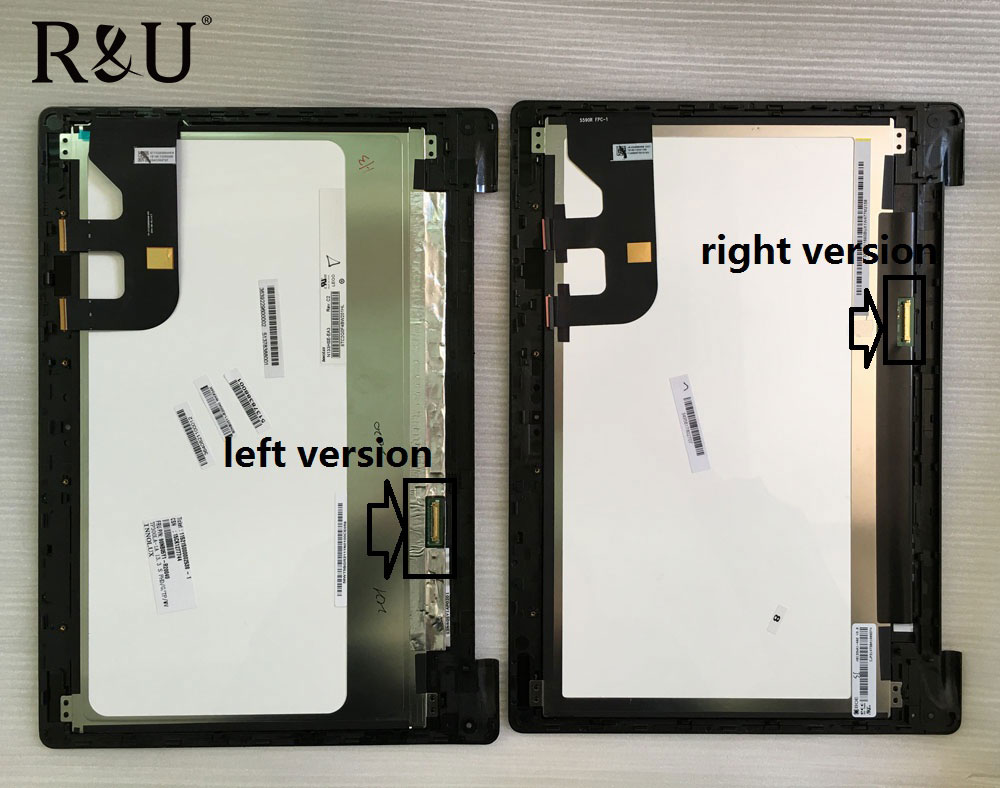 R&U test good lcd screen display with touch screen digitizer assembly with frame For Asus Transformer Book TP300 TP300LA TP300LD
