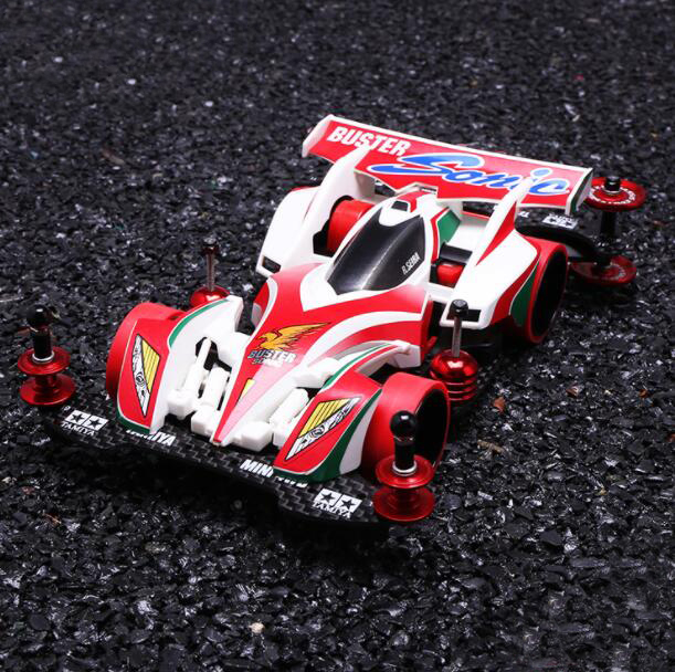1/32 Scale Tamiya Mini 4WD Racing Car Model 19445 BUSTER Sonic Modify Parts Kit (Not Assembled) tamiya mini 4wd car model emperor superstar 18074 s2 chassis modify car model not assembled