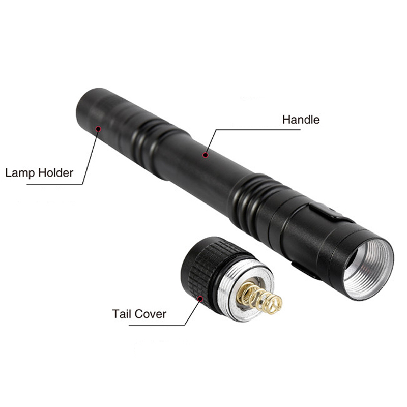 zk25 Dropshipping Pen Light Portable Mini LED lampe de poche Torche - Éclairage portable - Photo 2