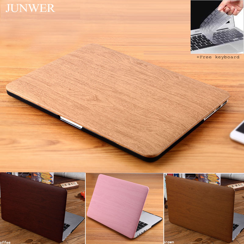 цена на JUNWER 2017 Wood PU Leather Case For Macbook Air Pro Retina 13 inch cover Hard case laptop bag For Apple Macbook Air 13.3 case