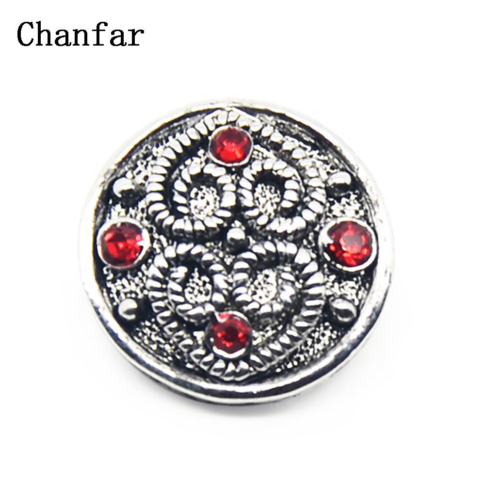 Rhinestone Snap Buttons Alloy 18mm Charm Jewelry