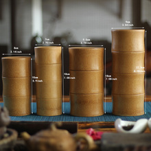4 Types Bamboo Vintage jars for Storage Canister Tea Coffee Candy Spice Seal  seasoning Bottle Case Handmade Organizer Box