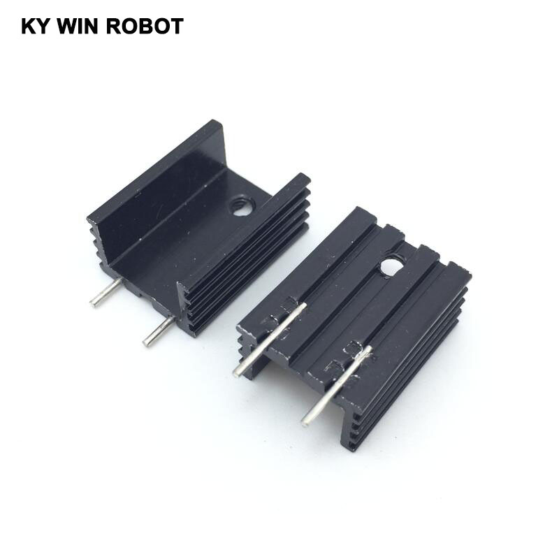 10pcs Free Shipping Aluminium TO-220 Heatsink TO 220 Heat Sink Transistor Radiator TO220 Cooler Cooling 15*10*20MM With 2Pin ...