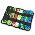 Cable Winder,USB Cable Organizer System Kit Case storage Bag for Earphone Pen Batteries, Free Shipping
