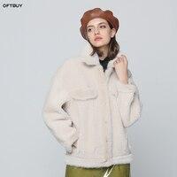 OFTBUY 2019 Роскошные зимняя куртка женщин реального шерсть норки мехом кожаная куртка бомбер натуральный Меховые пальто женские дубленки паль