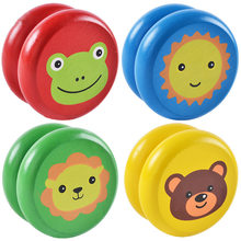 Baby Classic Toys Wooden Yoyo Toys Kids Intelligence Educational Toy Hand-Eye Coordination Development Yoyo Toy Random Color(China)
