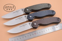 JUFULE Rat model 1 AUS 8 steel Blade Carbon Fiber Handle Folding Blade Tactical Survival Camping outdoor Ontario kitchen knife