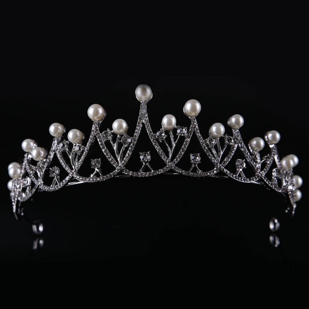 2017 New Arrival Art Deco Silver Rhinestones Crystal Pearls Wedding Hair Comb Bridal Hair Accessories Bridesmaids Princess RoyaL