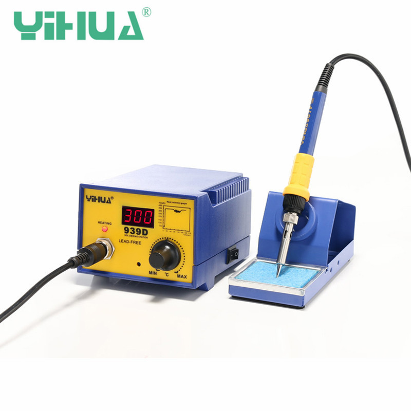 YIHUA 939D 240V Anti Static Soldering Station Thermostat Unleaded High-power Electric Soldering Irons Welding Machines AU Plug цена
