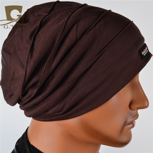 NEW Men chunky Beanie Baggy Slouchy cotton hat ski surfer winter outdoor  hat SH-302 b352a6a031c