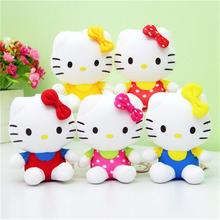 12CM 5pcs/lot Top Quality Cheap Hello Kitty, plush toys for children kids baby toy,lively lovely doll hello kitty toy