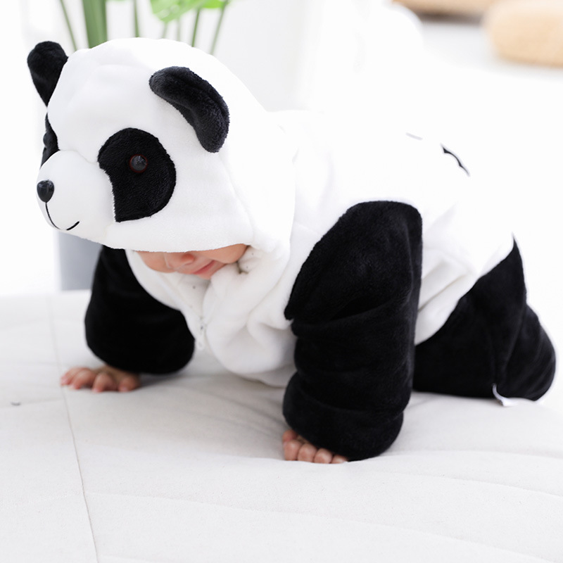 Winter Thick Warm Infant Baby Rompers Winter Clothes Newborn Baby Jumpsuit Hooded Kid Toddler Outerwear H351