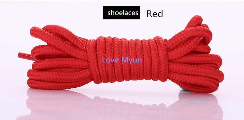 Круглые шнурки для обуви унисекс Модные Повседневные Кроссовки парусиновые кожаные шнурки для обуви высококачественные красные черные желтые белые синие коричневые шнурки