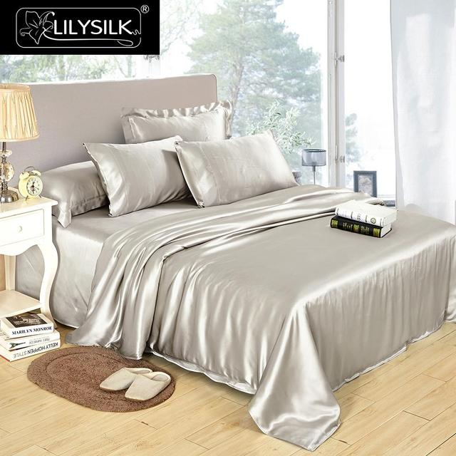 Lilysilk 100 Pure Mulberry Silk Duvet Cover 25mm Seamless Luxury Solid Color Twin Full Queen