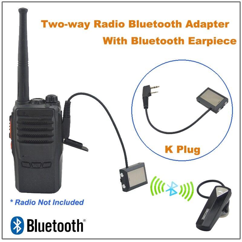 Wireless Headset Earpiece Bluetooth for KENWOOD TYT BAOFENG Wouxun Walkie Talkie