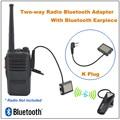 Walkie Talkie Two-way Radio Bluetooth Adapter K Plug W/ Bluetooth Earpiece for Baofeng UV-5R,Puxing PX-888K,TYT,WOUXUN  Radio