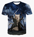 The Lord of the Rings Cats t shirts Men Women Hipster 3D t shirt Harajuku tee shirt Vintage Style tshirts Wizard Cat tees tops