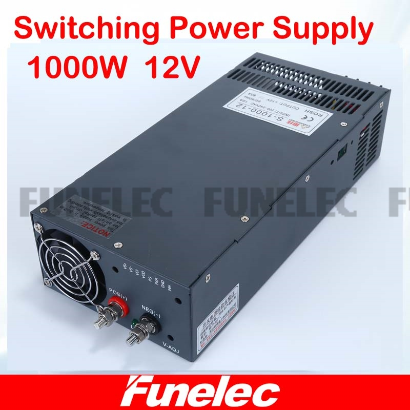 switching power supply 12v 1000w ac to dc converter 83.3A led driver 110V 220V SMPS For led strip display cctv and 3d printer